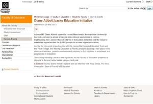 Diane Abbott MEaP News