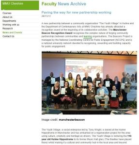 Manchester Beacon Recognition Award