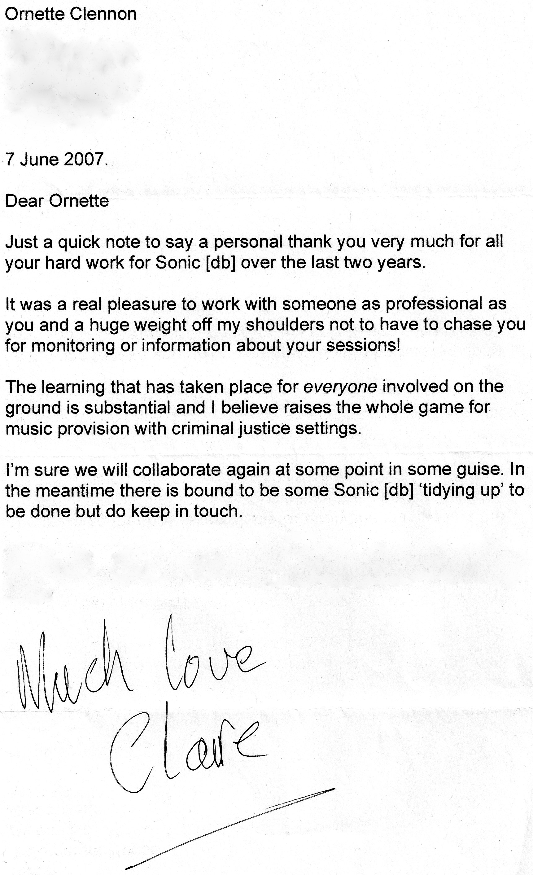 letter of recommendation for inmate release